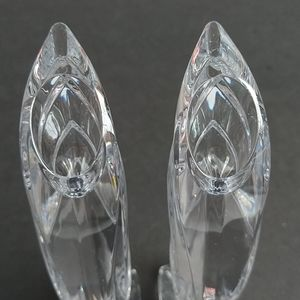 "Lenox Accents - Lenox Crystal Falling Star Candlesticks 8"" Holders"